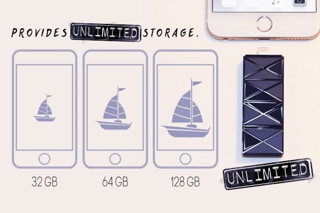 iSafe Drive - флешка с Lightning, USB, microUSD и microSD для iPhone и iPad