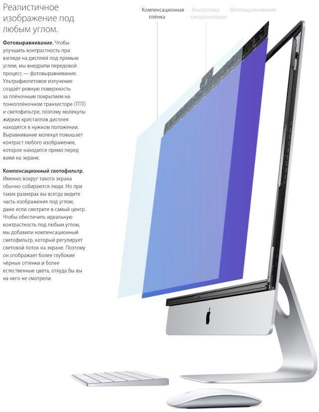 Фотовыравнивание в iMac 27 2015 года