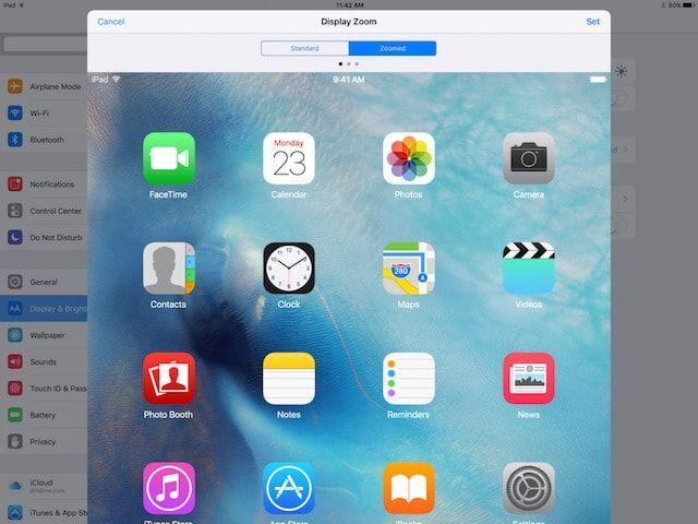 Увеличено в iPad Pro