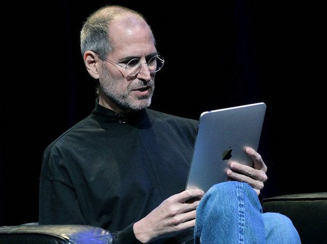 Jobs first iPad