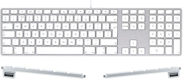 Проводная клавиатура Apple