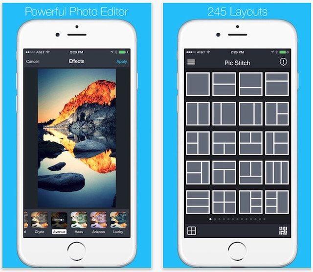 Pic Stitch - приложение для создания фотоколлажей и мощный редактор
