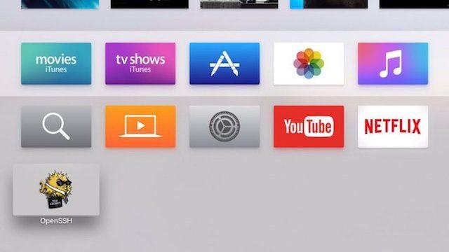 Хакер i0n1c показал скриншот Apple TV 4G с джейлбрейком
