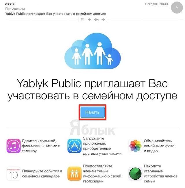 Как пригласить пользователя в Семейный доступ