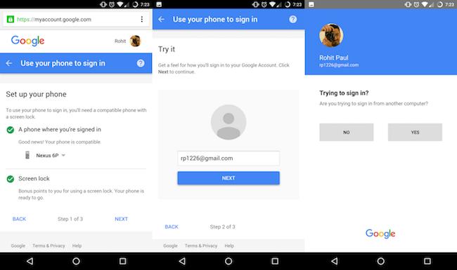 Google тестирует новый способ авторизации в учетных записях без ввода пароля