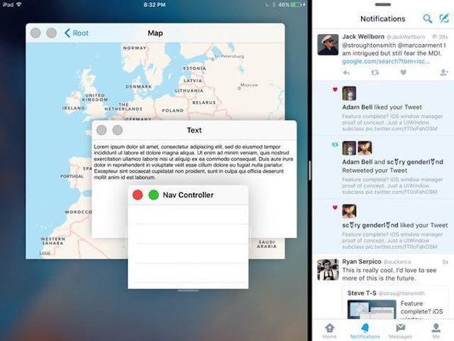 режим многооконности в iPad как на Mac