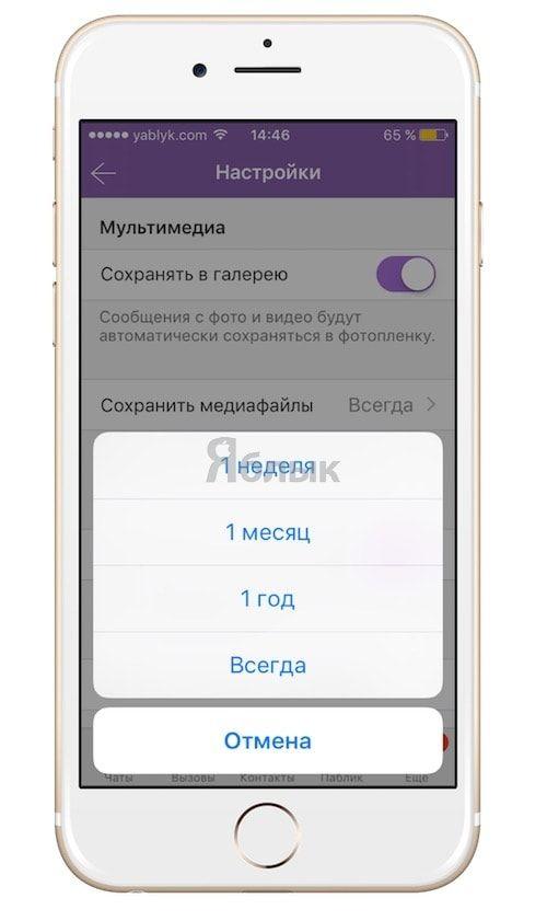 """Как отправлять """"самоуничтожающиеся"""" фото-видеосообщения в Viber на iPhone"""