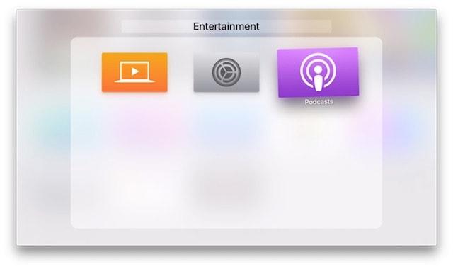 Apple TV 4g - поддержка папок