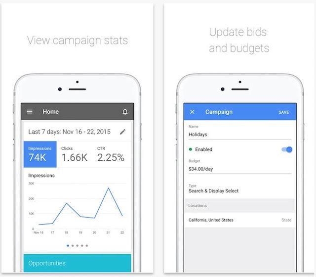 Google AdWords для iPhone и iPad
