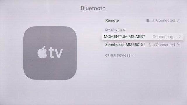 Как подключить Bluetooth-наушники к Apple TV