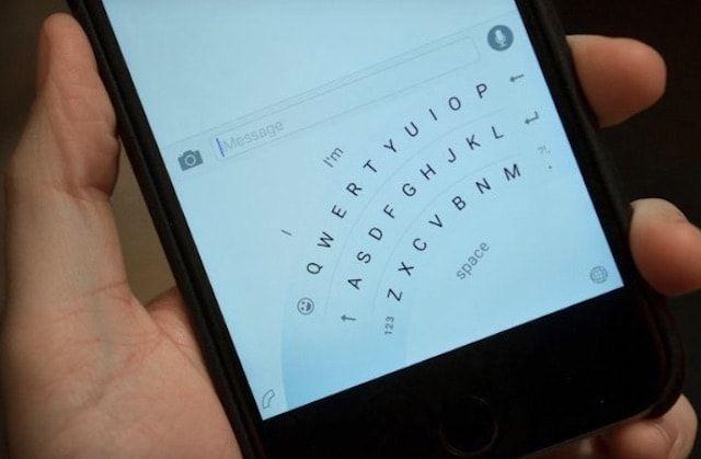 Одноручная клавиатура Microsoft для iPhone