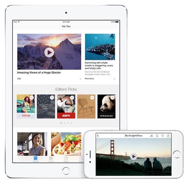 Приложение News в iOS 9.3