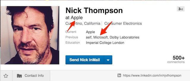 Ник Томсон из Apple