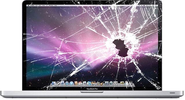 Разбитый экран Macbook Pro