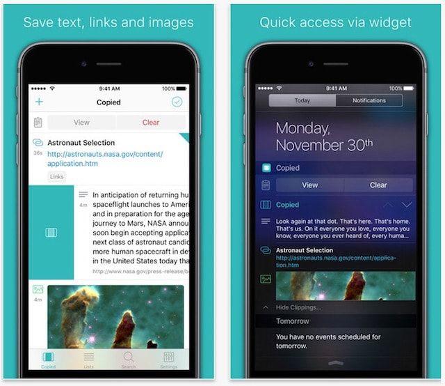 copied - буфер обмена для iPhone, iPad и Mac