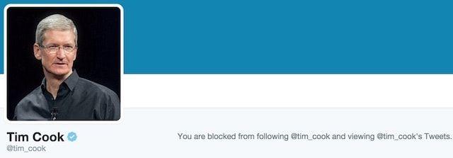 Тим Кук начал блокировать пользователей в Twitter