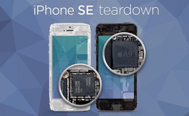 «Вскрытие» iPhone SE показало наличие комплектующих из iPhone 5s, 6 и 6s