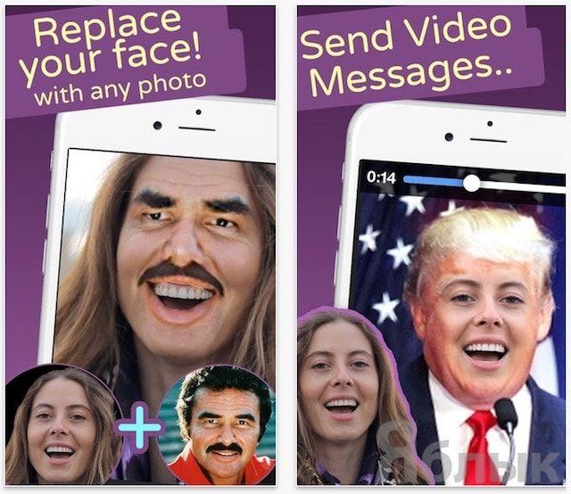 Замена лица на фото и видео на iPhone - Face Swap Live