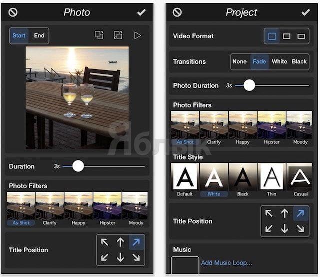 PhotoMotion - видео из фото на iPhone