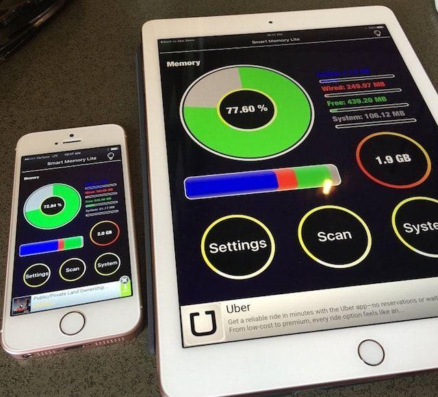Оперативная память iPad Pro и iPhone SE
