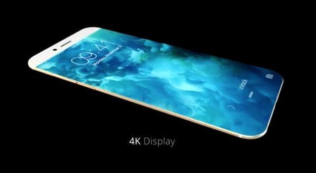 Концепт iphone 7 без рамок и физической кнопки Home