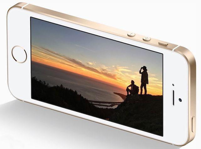 iPhone se золотого цвета