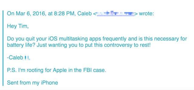 письмо в Apple