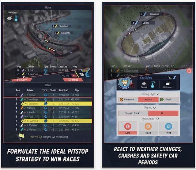 motorsport manager - гонки для iPhone и iPad