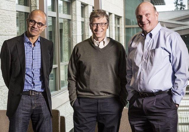 Наделла, Гейтс и Балмер