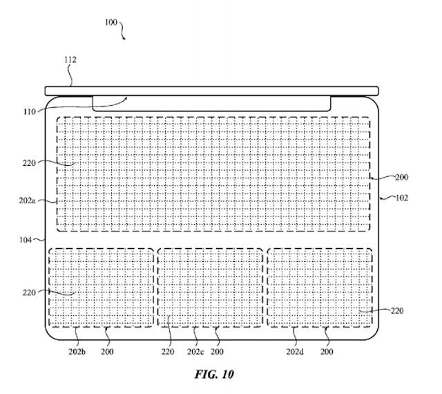 Apple запатентовала инновационную клавиатуру для MacBook без кнопок