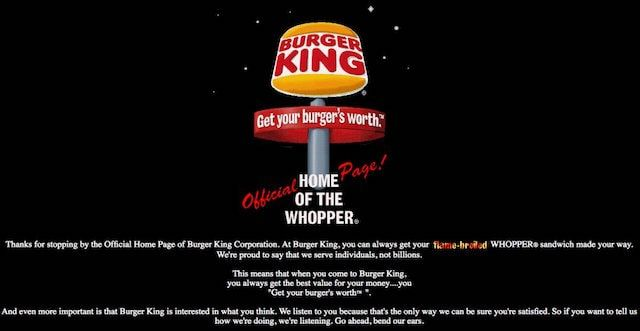 Сайт burger king
