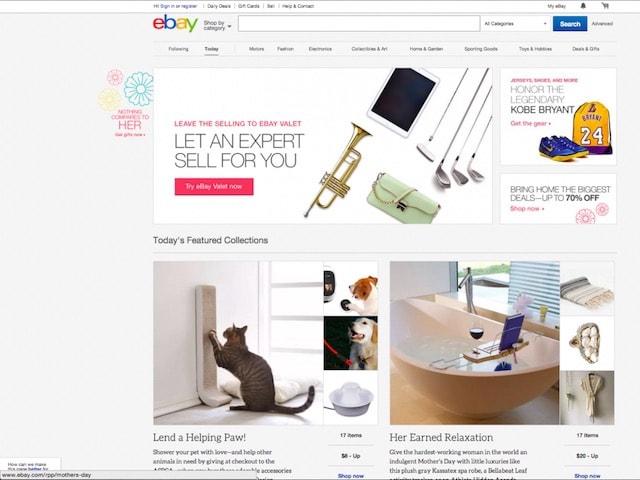 Сайт Ebay