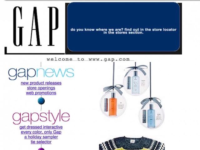Сайт Gap