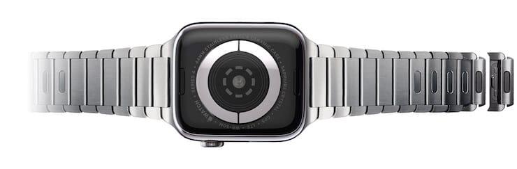 Как снять или установить блочный браслет на Apple Watch