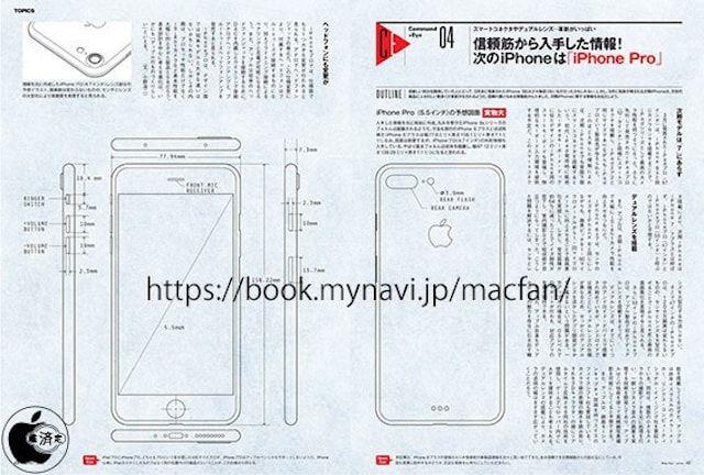 чертежи нового iPhone 7 Plus