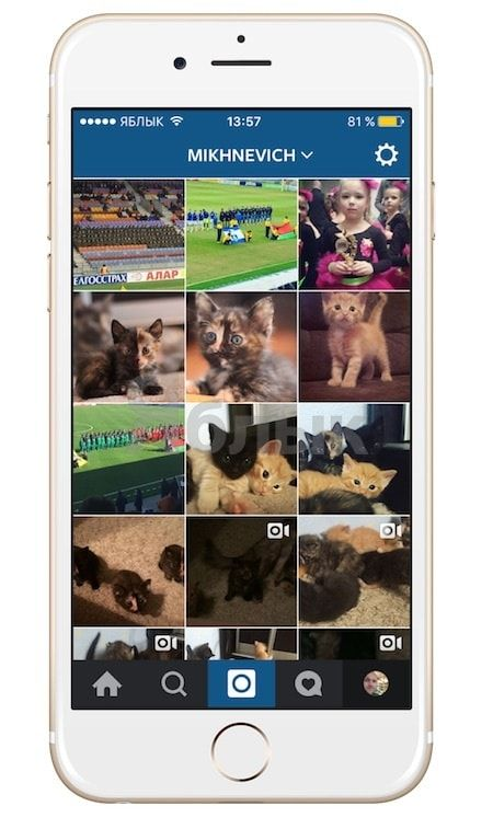 Как вызывать скрытое меню действий над фото и видео в Instagram