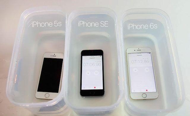 iphone 6s и iphone se в тесте на водонепроницаемость