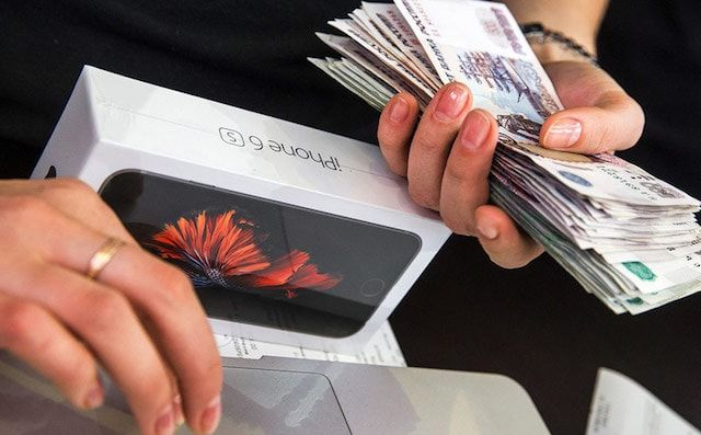 Цены на iPhone в России