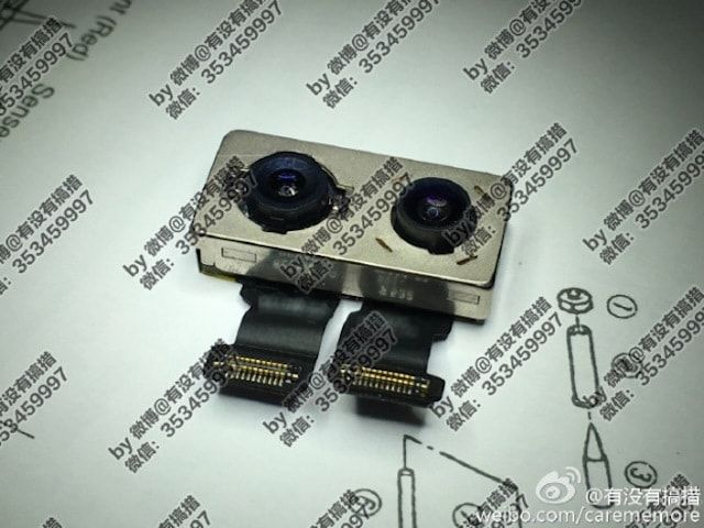 Фото модуля двойной камеры iPhone 7 Plus