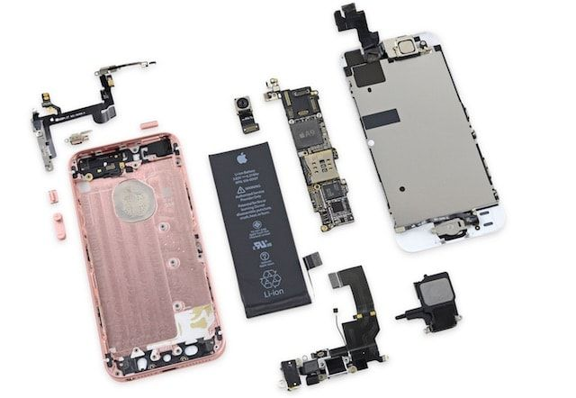 Разборка iPhone SE