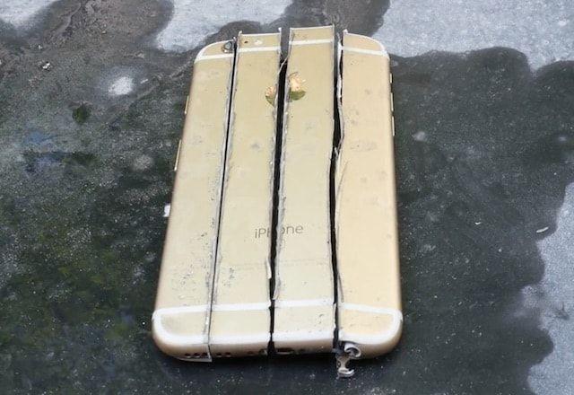 iPhone 6s против дисковой пилы