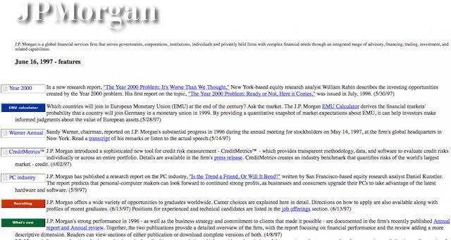 Сайт JPMorgan