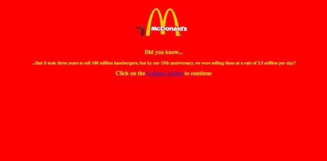 Сайт mcdonalds