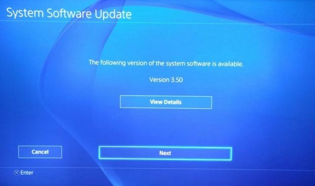 PlayStation 4 - обновление прошивки