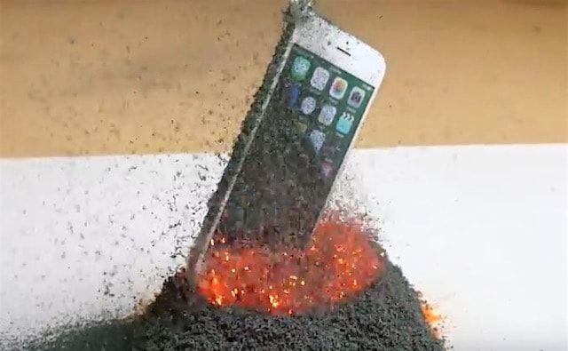 Вулкан против iPhone 6s