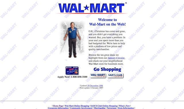 Сайт Walmart
