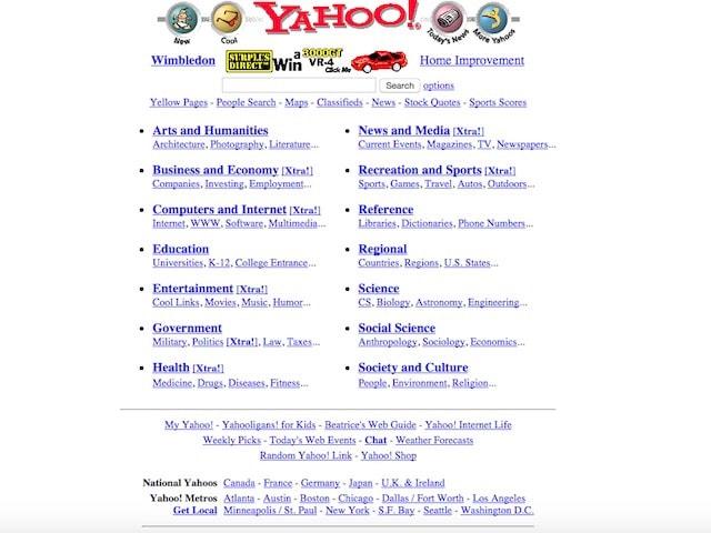 Сайт Yahoo!