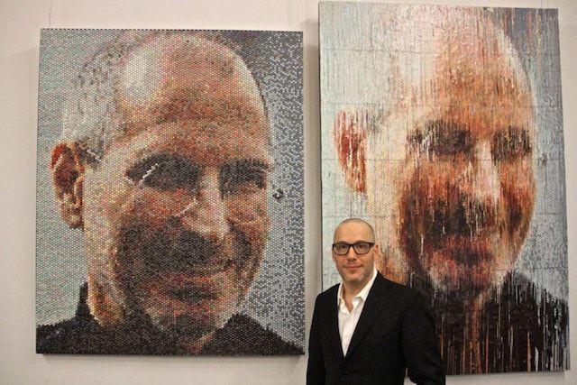 портрет Стива Джобса на пузырчатой пленке