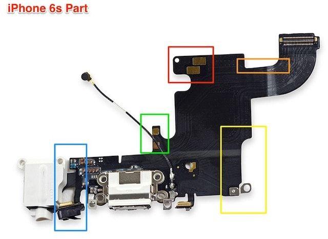 Нижний шлейф iPhone 6s