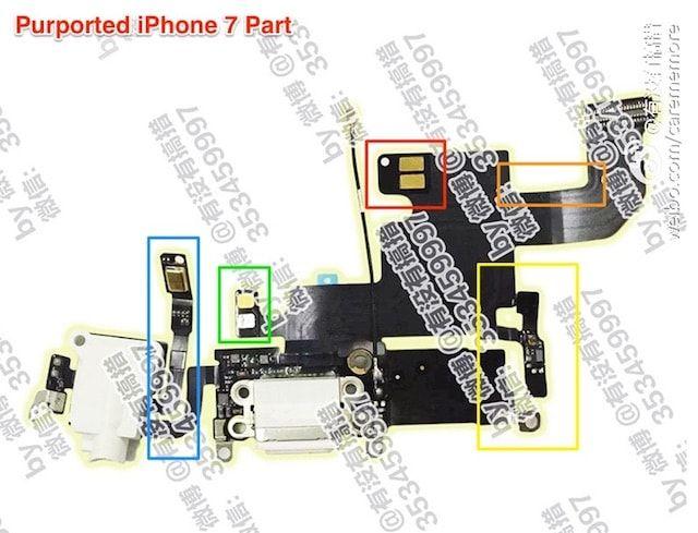 Нижний шлейф iPhone 7